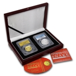 2013 1 oz Gold & Silver High Relief Proof Snake Set PR-70 PCGS