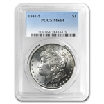 1881-S Morgan Dollar - MS-64 PCGS