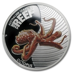 2012 1/2 oz Proof Silver Octopus -Sea Life II PCGS PR-70