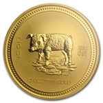 2007 2 oz Gold Year of the Pig Lunar Coin (Series I) PCGS MS-70