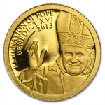 Cook Islands 2013 $1 Resignation of Pope Benedict XVI