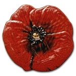 Palau Gold $1 Remembrance Red Poppy (1/2 gram of Pure Gold)