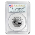 2013-S Silver Proof Quarter ATB PR-69 DCAM (FS) SET