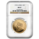 1978 1 oz Gold South African Krugerrand NGC MS-67