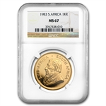 1983 1 oz Gold South African Krugerrand NGC MS-67