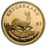 1987 1 oz Gold South African Krugerrand NGC PF-66 UCAM