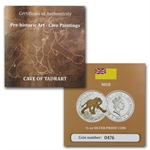 Niue 2011 Proof Silver $1 Prehistoric Art Cave Paintings-Elephant