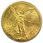 Mexico 1929 50 Pesos Gold Coin MS-64 PCGS