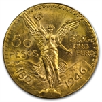 Mexico 1946 50 Pesos Gold Coin MS-64 PCGS (Secure Plus!)