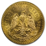 Mexico 1946 50 Pesos Gold Coin - MS-64 PCGS (Secure Plus!)