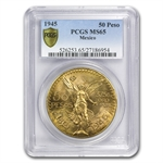 Mexico 1945 50 Pesos Gold Coin MS65 PCGS