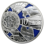 2013 10 Euro Silver Proof UNESCO-850th Anniv. Notre Dame de Paris