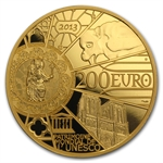 2013 1 oz Gold Proof UNESCO - 850th Anniv. Notre Dame de Paris