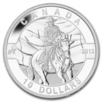 2013 1/2 oz Silver Canadian $10 Royal Canadian Mounted Police