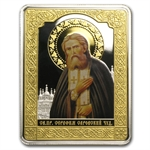 Cook Islands 2013 $5 Russian Icon - Saint Seraphim of Sarovsky