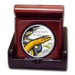 2013 1 oz Proof Silver Yellow-Bellied Snake - Deadly & Dangerous
