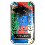 2013 1 oz Graduation Enameled Silver Bar (w/Gift Box & Capsule)