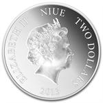 2013 1 oz Silver Niue Birds of Prey - Osprey