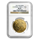 2013 1 oz .9999 Gold New Zealand Mint $200 Fiji Taku MS-70 NGC