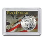 Peace Silver Dollar Harris Holder (Flag Design)