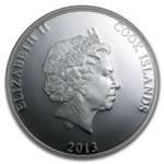 Cook Islands 2013 5 oz Silver Mother of Pearl- Year of the Snake