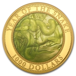 Cook Islands 2013 5 oz Gold Mother of Pearl - Year of the Snake