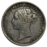 Great Britain 1885 Silver 3 Pence Victoria VF+
