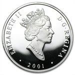 2001 1 oz Silver Canadian $20 The Scotia Train