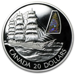2002 1 oz Silver Canadian $20 The William D. Lawrence Ship