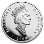 2000 1 oz Silver Canadian $20 The Toronto Locomotive