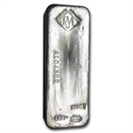 100 oz Johnson Matthey Silver Bar (Serial # / USA) .999 Fine