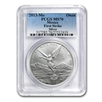 2013 1 oz Silver Mexican Libertad MS-70 PCGS (First Strike)