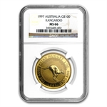 1997 1 oz Australian Gold Nugget NGC MS-66
