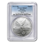 2013 1 oz Silver Mexican Libertad MS-69 PCGS (First Strike)