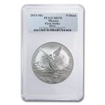 2013 5 oz Silver Mexican Libertad MS-70 PCGS (FS) - Registry Set