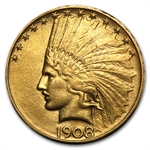 1908-D $10 Indian Gold Eagle - No Motto - Cleaned