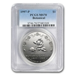 1997-P Botanical Garden $1 Silver Commemorative - MS-70 PCGS