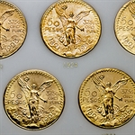 Mexico 50 Peso Complete Gold Set (AU/BU)
