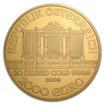 2009 20 oz Gold Austrian Philharmonic NGC MS-69 (20th Ann)