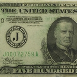 1934-A (J-Kansas City) $500 FRN (Extra Fine)