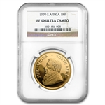 1979 1 oz Gold South Africa Krugerrand NGC PF-69 UCAM