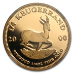 2000 South Africa 1/4 oz Gold Krugerrand NGC PF-68UC