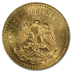Mexico 1928 50 Pesos Gold Coin MS-62 NGC