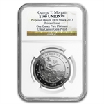 $100 Union NGC - Gem Proof Platinum George T. Morgan .999 Fine