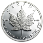 1989 1 oz Proof Silver Canadian Maple Leaf (No Box or COA)