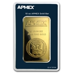 10 oz APMEX Gold Bar.9999 Fine(In Assay/Tamper-Evident Pkg)