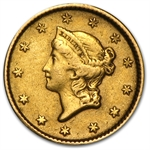 $1.00 Liberty Gold-Type I - No Date Love Token - L P H