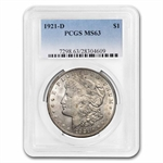 1921-D Morgan Dollar - MS-63 PCGS