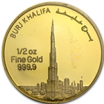 1/2 oz UAE 2012 Dubai Gold Burj Khalifa (In Assay) .9999 Fine