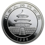 1999 Silver Chinese Panda 1 oz - Large Date (capsule only)